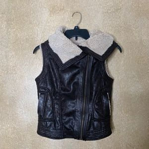 Mudd | Brown Faux Leather Jacket Vest size S
